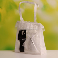 Tuxedo Dress Organza Wedding Candy Bag for Wedding Decoration (BF-136)