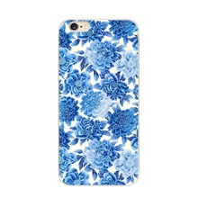 Vintage Fashion Floral Pattern Printing TPU Smart Phone Case for Iphone 6 Cell Phone Case Cover