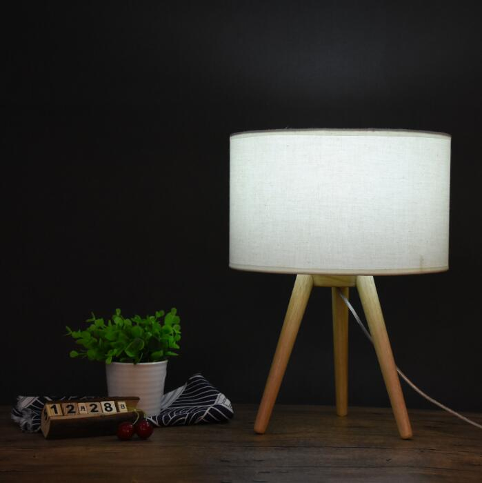 Tripod table lamp / wood table lamp / floor lamp lamp set