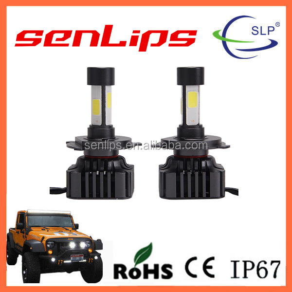 4P!!!12-24V 360 Degrees H4 COB CHIP led headlight for all Vehicles