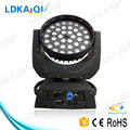 2016 hot sale dj lighting 36*12W led moving head light with zoom RGBWA moving head zoom 4 in 1 6 in 1 also for your options