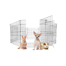 Durable metal pet enclosure 8 portable panels pet dog playpen