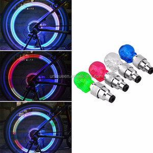 Sample Available Skeleton Ghost LED Laser Wheel Tail Lamp Cycling Bright Light Bike Safety Warning Skull Dry Battery LED Bicycle