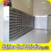 Custom Made Free Standing Stainless Steel Apartment Mailboxes
