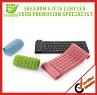 Foldable 104 Keys USB Silicone Keyboard for Laptop Computer