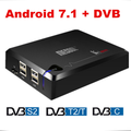 Amlogic S905D 2/16G 4K H.265 DDR4 IPTV Combo google Android DVB-S2 T2/C High Quality 4K Satellite Receiver