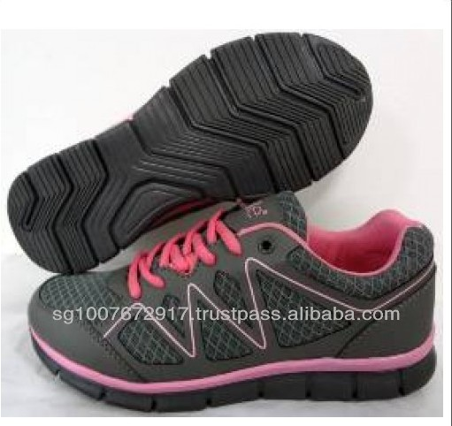 High Quality Grey Color Lady's Sport Shoes