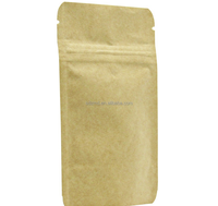 Kraft paper stand up coffee packaging bags with ziplock
