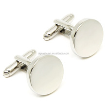 Wholesale high polished stainless steel cufflink blanks