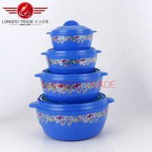 high quality 4pcs plastic lunch box with handle/food warmer/indian lunch box