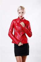 Hot style real sheep skin fur made overcoat women leather coat
