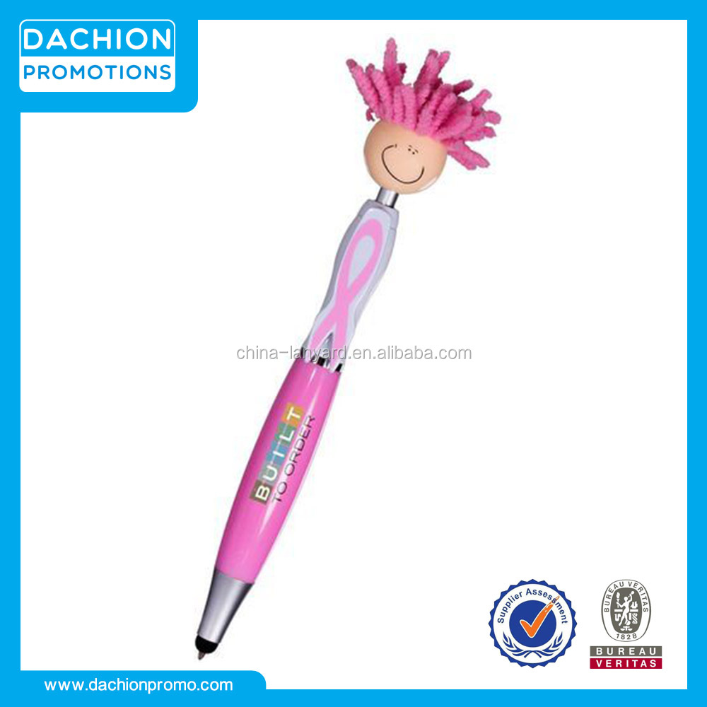 Logo printed Mop Topper Awareness Stylus Pen
