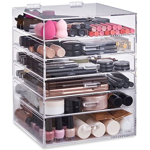 Factory Price Customized Large High Quality Clear Cosmetics Storage Makeup Acrylic Drawer Organizer