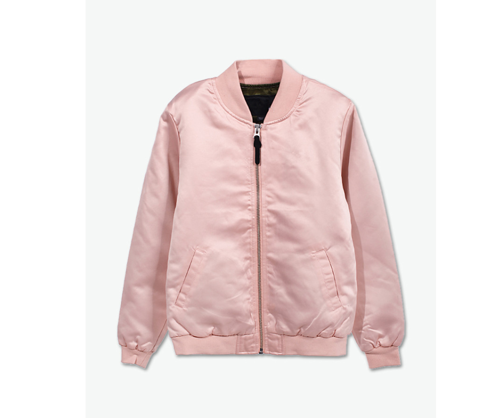 Cotton Polyester Black And Pink Varsity Jacket, Cotton Polyester ...
