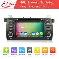 Huifei Quad Core Android 4.4 Capacitive Screen 1024*600 In Car Android Navigation 2 Din Car Radio For Bmw E46 Multimedia