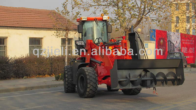 CE ZL20 snow blower wheel loader