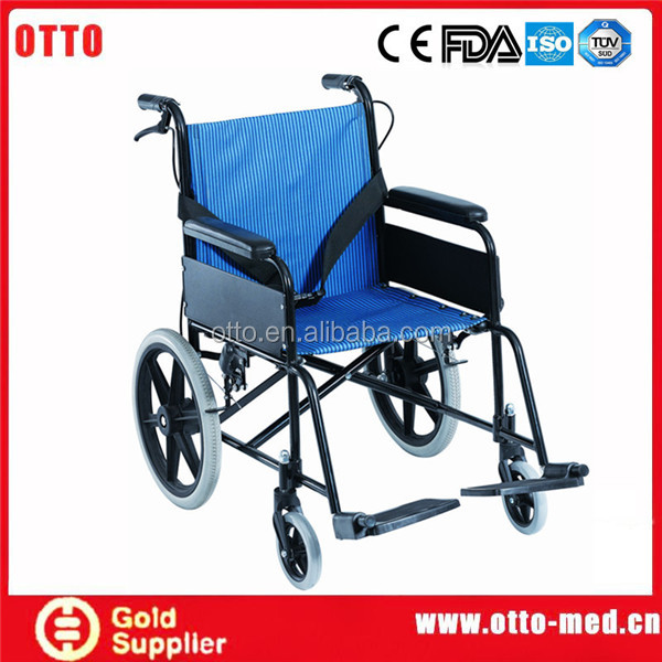 chair old people Aluminum compact folding wheelchair