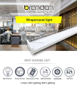 4 Foot Wrap Fixture Wire Guard Batten Ceiling Lighting T8 Led Surface Mount Light