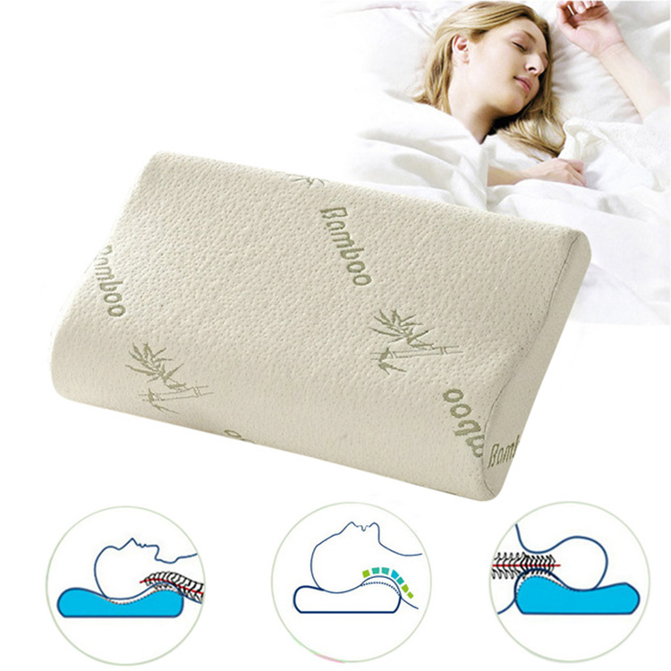 Shenzhen Factory Custom Cooling Health Care Standard Size Moulded Elastic Contour Memory Foam Natural Pillow