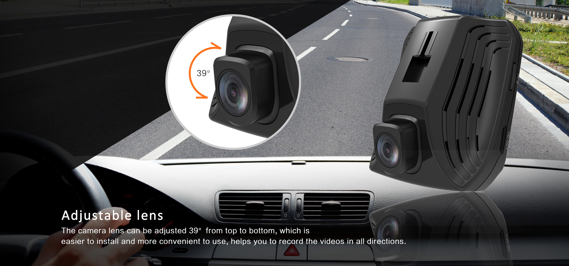 OEM 4K ADAS video camera Hidden design car dashcam with HDR GPS car camera recorder Optional dual camera