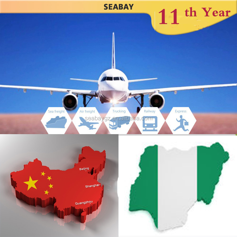 From China to Nigeria price Air Shipping agent cargo freight forwarding service cost rate