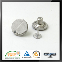 Fashion custom silver metal alloy shank buttons