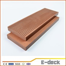 Outdoor deck flooring formaldehyde free antiseptic wpc solid decking composite tiles terrace board