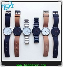 Vogue stylish 3 hand quartz slim style royal crown watches china with 316lsteel case