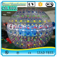 Cheap and high quality colorful inflatable zorb ball play water game for adults,outdoor zorb ball rental