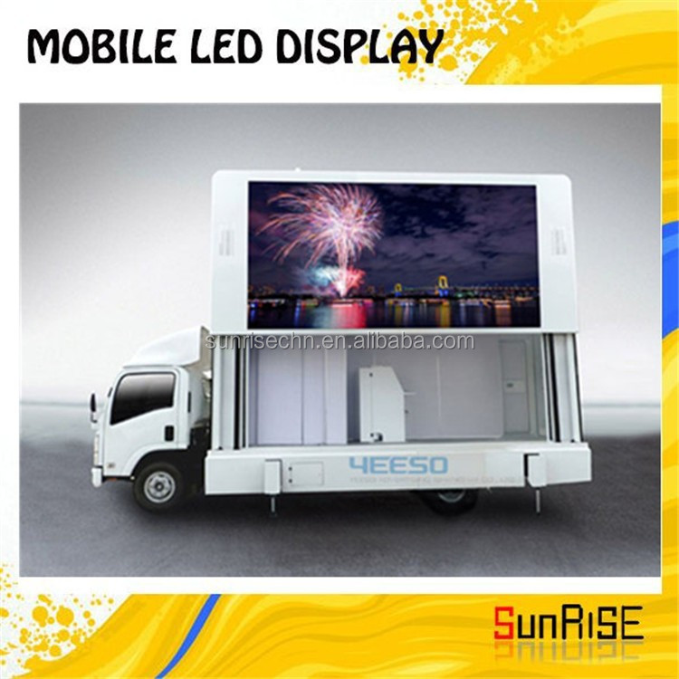 Scrolling Advertising Trucks full color and waterproof Street Advertising Led Screen