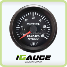 52mm 0-6000 rpm meter Electrical Diesel Tachometer Gauge