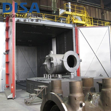 DISA Shot blasting chamber with a turntable bogie work car