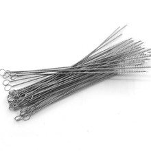 Simple Nylon Bristle Wire Metal Stainless Steel Straw Cleaning <strong>Brush</strong> for Bar Accessories