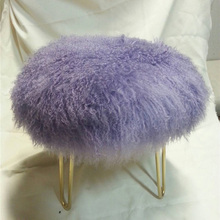 Long Hair Curly Fur Decorative Mongolian Fur Cushion