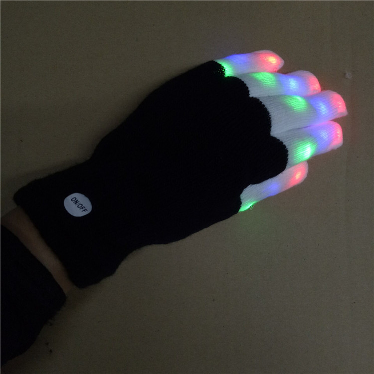 China factory glow in the dark gloves party supplies flash light led gloves Halloween gloves