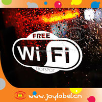 pvc decor wifi stickers decals for window stickers decals