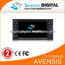 TYT-7920GD Digital Touch screen for Toyota avensis car dvd player