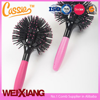 3D Hair Curl Brush Ball Style Personalized rolling hair comb wholesale