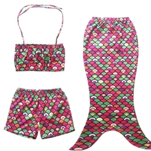 MS69261C 3 pieces fashion hot sale kids mermaid tail swimming