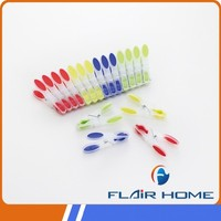 colorful soft grip plastic clothes peg/clip