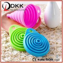 Colorful Eco-friendly Silicone Collapsible Funnel With Many Color For Kitchen