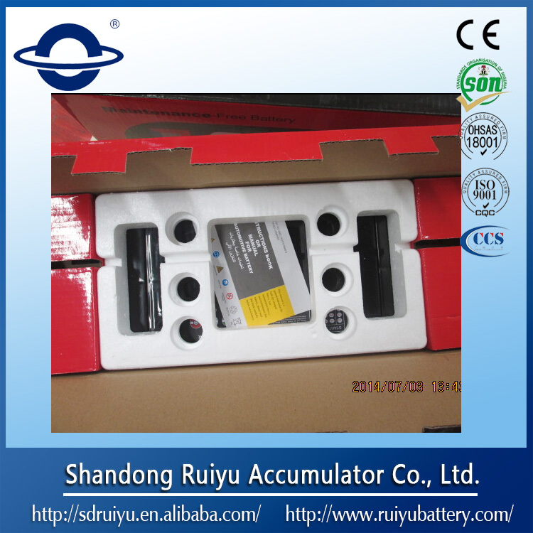 12V Sealed maintenance free lead acid car battery Korean car battery