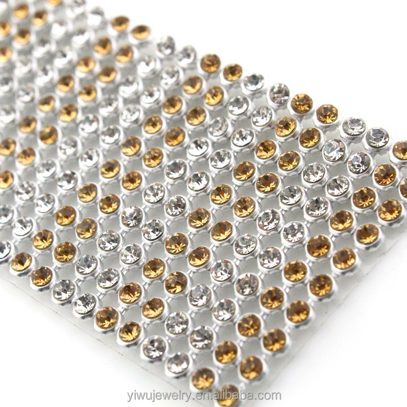 Wholesale 3mm ss8 Rhinestone Cloth Fabric Trimming Rhinestone Mesh
