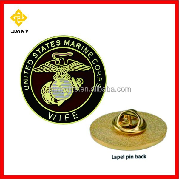 Personalized Design Marine Corps Wife Lapel Pins