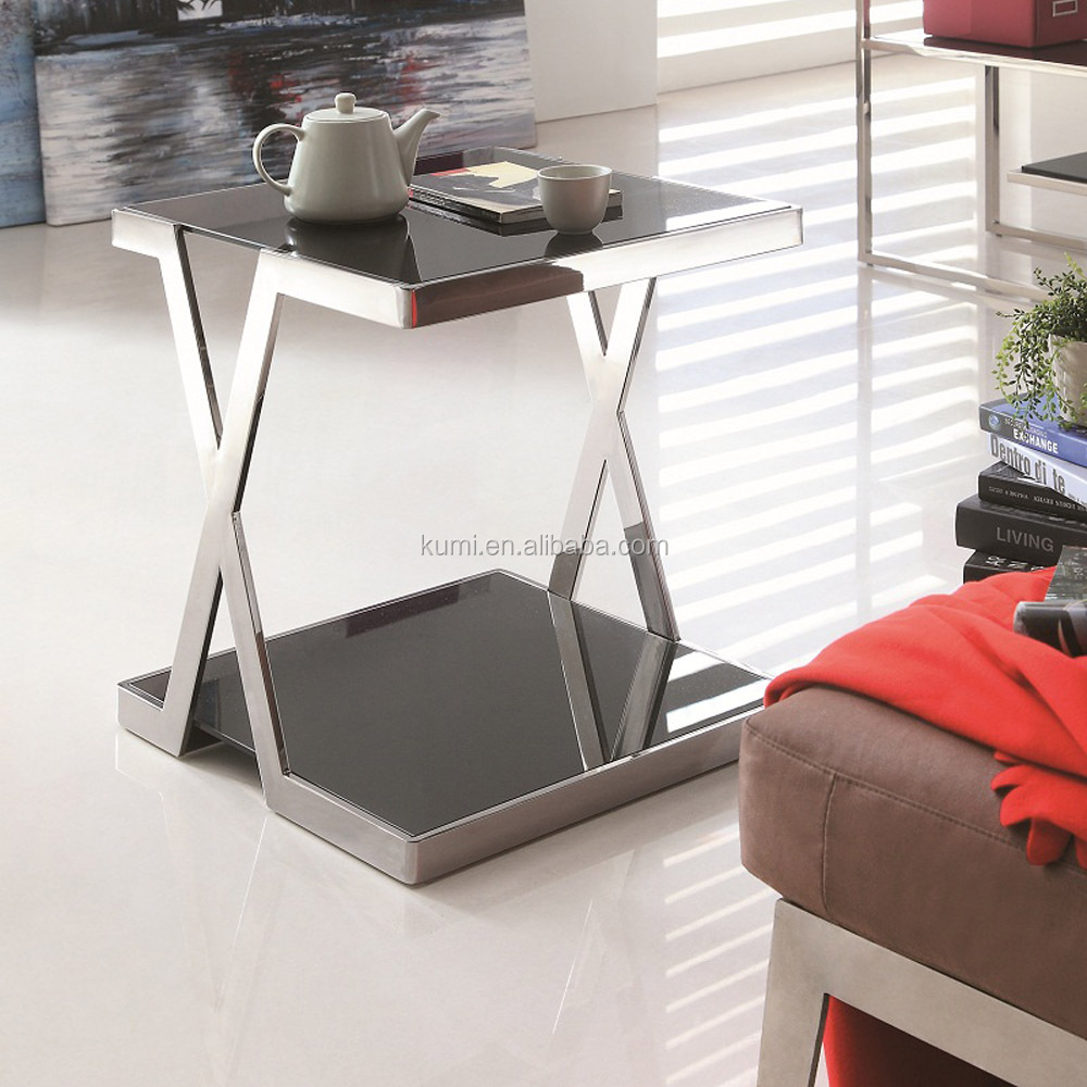 Glass centre living room side table