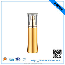 Customized gold aluminum lotion bottle body lotion bottle cosmetic packaigng