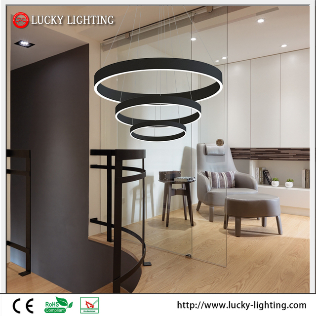 3 Circle Rings Dining Room Modern Pendant Hanging LED Lights