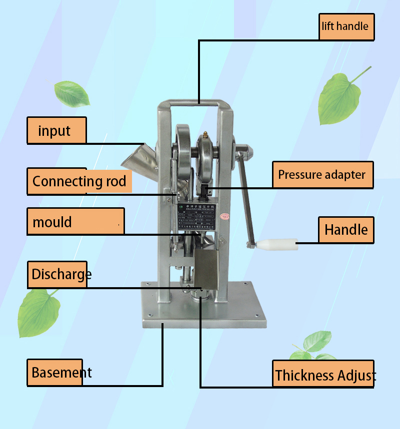 TDP-0T Hand Cranking Hand-Cranking Western Medicine Pill Making Tablet Press Machine