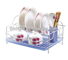 Metal Kitchen Storage Plastic Folding Dish Rack