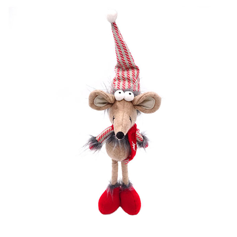 32CM <strong>plush</strong>/knited mesh/felt cute xmas mouse christmas animals